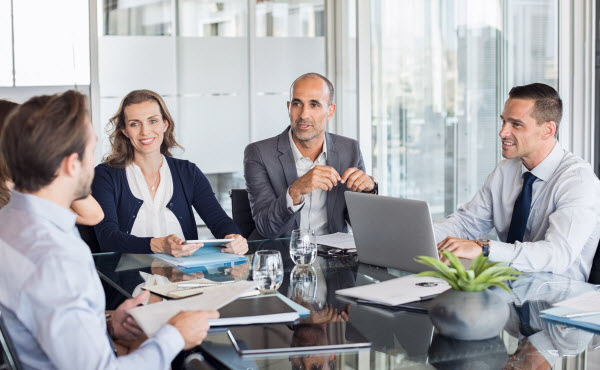 Group of business people having a meeting in a conference room