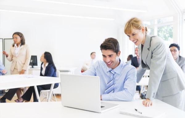 Business Woman Supervising an Employee
