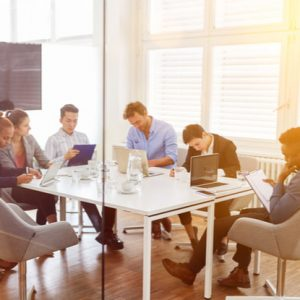 Group Of Business People Make Team Meeting