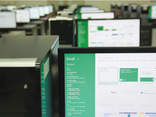Microsoft Excel, a spreadsheet developed by Microsoft, on computer screen.